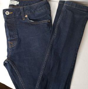 TOPMAN Stretch Skinny Jeans Dark Wash Size 30R.